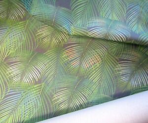 Palm Leaves Pattern Panama Fabric Curtain Upholstery cotton Print Fabric Cushion