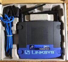 Cisco-Linksys WRT54G Wireless-G Broadband Router (2.4 GHz -54Mbps) 4 Port Switch