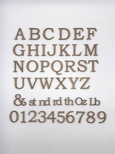 Wooden Letters & Numbers 3cm Laser Cut Embelishments Shapes MDF