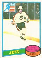 1980-81 Topps Hockey #176 Dave Christian Winnipeg Jets Rookie 1980 Olympic Team