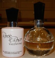 Valentino Rock n' Rose for Women 1.6 Oz EDP Spray + 3.3 Oz Shower Gel USED