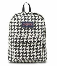 JanSport High Stakes Backpacks White Black Houndstooth Cord Brand New With Tags