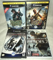 Medal of Honor 4 Game Lot Nintendo GameCube & Wii - All CIB & Working!