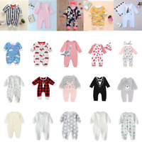 Newborn Baby Boys Girls Cotton Clothes Outfit Cute Romper Jumpsuits Bodysuit Lot