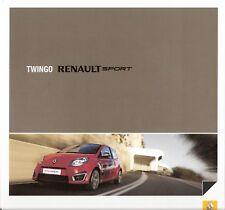 Prospekt / Brochure Renault Sport Twingo 09/2008
