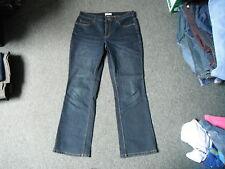 """Coldwater Creek jean bootcut taille 34"""" jambe 31"""" délavé bleu foncé femme jeans"""