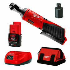 "Milwaukee M12IR-201B 12V 2.0Ah Li-Ion Cordless 3/8 - 1/4"" adopter Ratchet Kit"