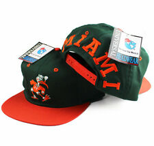 Vintage 1990s Miami Hurricanes Clean Blockhead Snapback Hat cap heat NEW