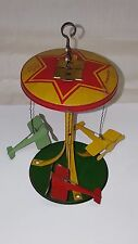 VINTAGE 1920's BUFFALO TIN WIND UP AIRPLANE CAROUSEL OLD PLANE TOY !! ANTIQUE !