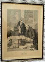 Walter Dendy Sadler & Wallace Hester Signed - Flaw in the Title Etching Framed