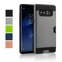 Protective Case for Samsung Galaxy Note 8 N950 Card Slot Credit Bumper