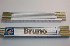 Zollstock mit Namen     BRUNO   Lasergravur 2 Meter Handwerkerqualität