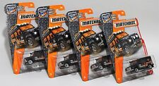 LAND ROVER DEFENDER 110 * LOT OF 4 * 2017 MATCHBOX * BLACK ORANGE 4X4