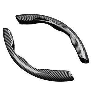 2pcs Carbon Fiber Car Steering Wheel Booster Cover Non-Slip Accessories