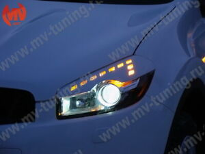 Front Eyelids Eyebrows Headlight Cover for Nissan Qashqai 2010-2013