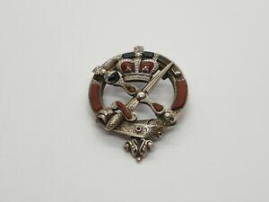 Vintage Victorian Scottish Gaelic Sterling Silver Agate Brooch Kilt