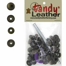 Tandy Leathercraft 7/16 Inch Line 20 Snap fastener kit CT.15 w/Tools - Gun