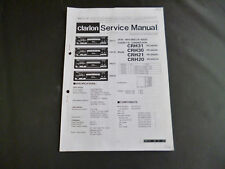 Service Manual Clarion CRH31 CRH30 CRH21 CRH20