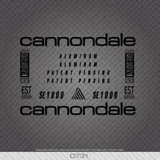 0731 Cannondale SE1000 Bicycle Stickers - Decals - Transfers - Black