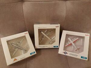HERPA Miniaturmodelle, 3 versch. Flugzeugmodelle, 1/500