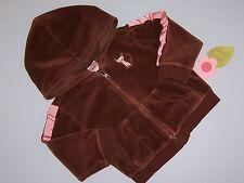 "Gymboree girls ""TEACHERS PET"" 18-24mth hoodie...brown velour...CUTE"
