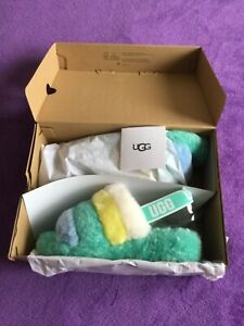 BRAND NEW WOMEN'S UGG FLUFF YEAH SLIPPERS. COLOUR: TIDE POOL SIZE: UK 7