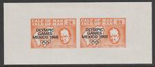 IOM Pantorrilla De Man 6061 - 1968 oplympics & Churchill M/Hoja de Menta desmontado