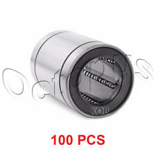 100PC Premium LM8 UU Metal Shielded  Linear Bush Ball Bearing 8x15x24mm