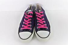 Converse All Star Cuero Trainers Mens tamaño EU 40 UK 7 púrpura Grado B AC091