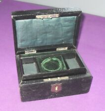 Periodo edoardiano C 1910 in pelle ricoperto di GIOIELLI COFANETTO box Antico