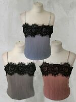 NEW Pins and Needles Urban Outfitters Crinkle Cami Lace Overlay Top (RRP £34)