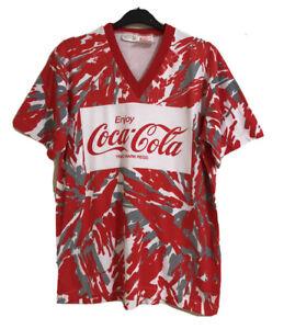 COCA COLA Vintage V Neck Cotton T-Shirt. Size M-L. GUC