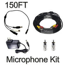 CCTV Microphone Kits for Q-SEE, Swann Any Surveillance DVR Security Systems 150F