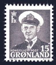 Greenland 1950 15 Ore King Frederik IX Mint Unhinged