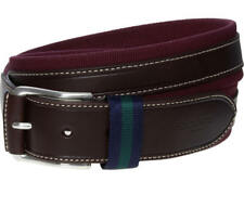 HACKETT  Burgundy & Brown Textured Belt