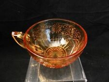 INDIANA GLASS Amber Cup Only Daisy Pattern Vintage