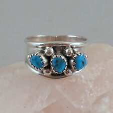 STERLING SILVER OVERLAY TURQUOISE RING SZ 8.75