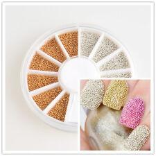 mini small DIY Caviar Rhinestone Slice Nail Art Tips UV Acrylic Decoration Wheel