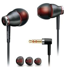 NEW Philips SHE9000/28 In-Ear Headphone (Black/Red) With A Metal Housing