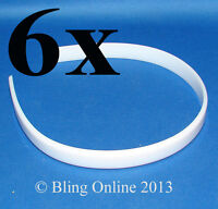 1x/6x PLAIN PLASTIC TIARA BASE HEADBAND ALICE HEAD BAND ART CRAFT MAKE YOUR OWN