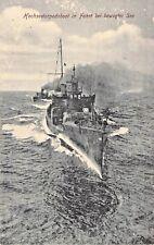 Foto - AK 1917@Hochsee-Torpedoboot in Fahrt bewegte See@Stempel Torpedo-Division