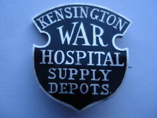 RARE WW1 1915 VINTAGE KENSINGTON WAR HOSPITAL SUPPLY DEPOTS SILVER PIN BADGE