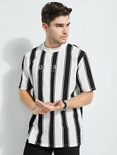 Guess Los Angeles Striped T-Shirt Shirt Tee Stripes Streifen Black White