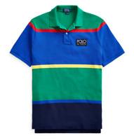 Polo Ralph Lauren Vintage Color Blocked Hi Tech Rugby Polo Shirt CP93 Snow Beach