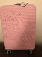 Disney Minnie Mouse Pink Hard Shell Cabin Case Luggage Travel Suitcase BNWT