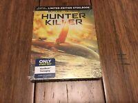 NEW SEALED 4K STEELBOOK Hunter Killer (4K ULTRA HD + BLU-RAY + DIGITAL, 2019)