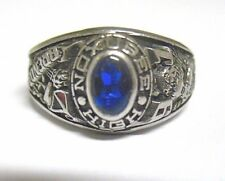 "SILVER NOXUBEE HIGH SCHOOL RING ""BRENDA"" 1991 SIZE 7  SYBOLL"