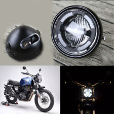 Universal Motorcycle White LED Headlight Daytime Running Light High/Low Beam DRL