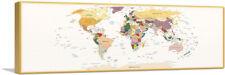 ARTCANVAS World Map Earth Tone Panoramic Canvas Art Print