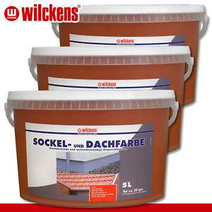 Wilckens 3x 5 l Sockel- und Dachfarbe | Ziegelrot | Sockelfarbe Dachziegel außen
